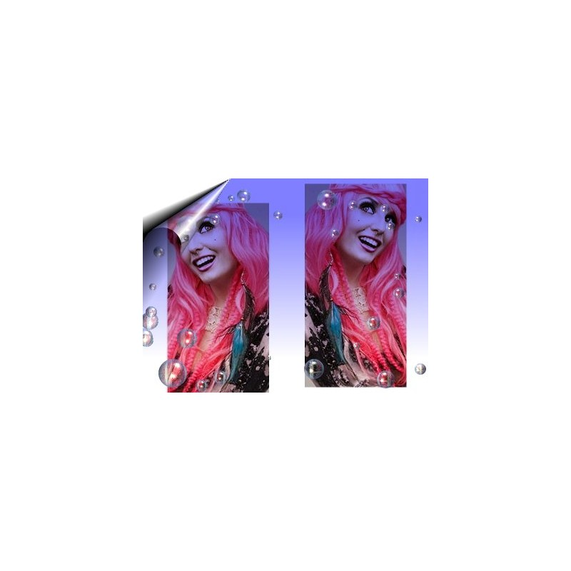 Haar Extension ~ Echthaarsträhnen Pink