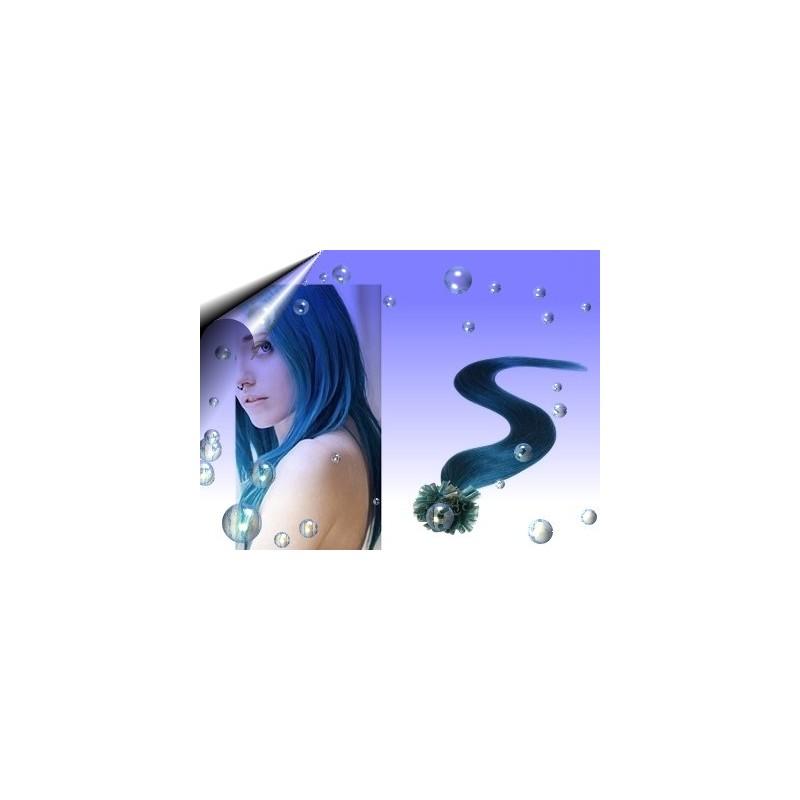 Haar Extension ~ Echthaarsträhnen Blau