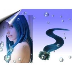 Echthaar Extensions Blau